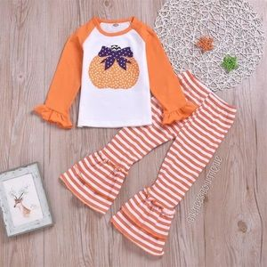 Pumpkin Toddle Ruffle Matching Outfit Set